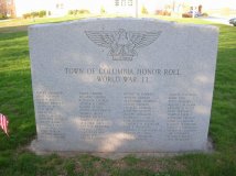 Town of Columbia Honor Roll WW11