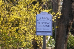 Old Yard Cemetery sign