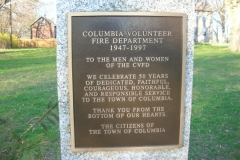 Columbia Volunteer Fire Dept. Memorial 1947 - 1999
