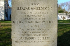 Eleazar Wheelock headstone on the Green