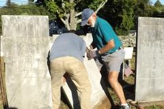 Don & Justin setting stone