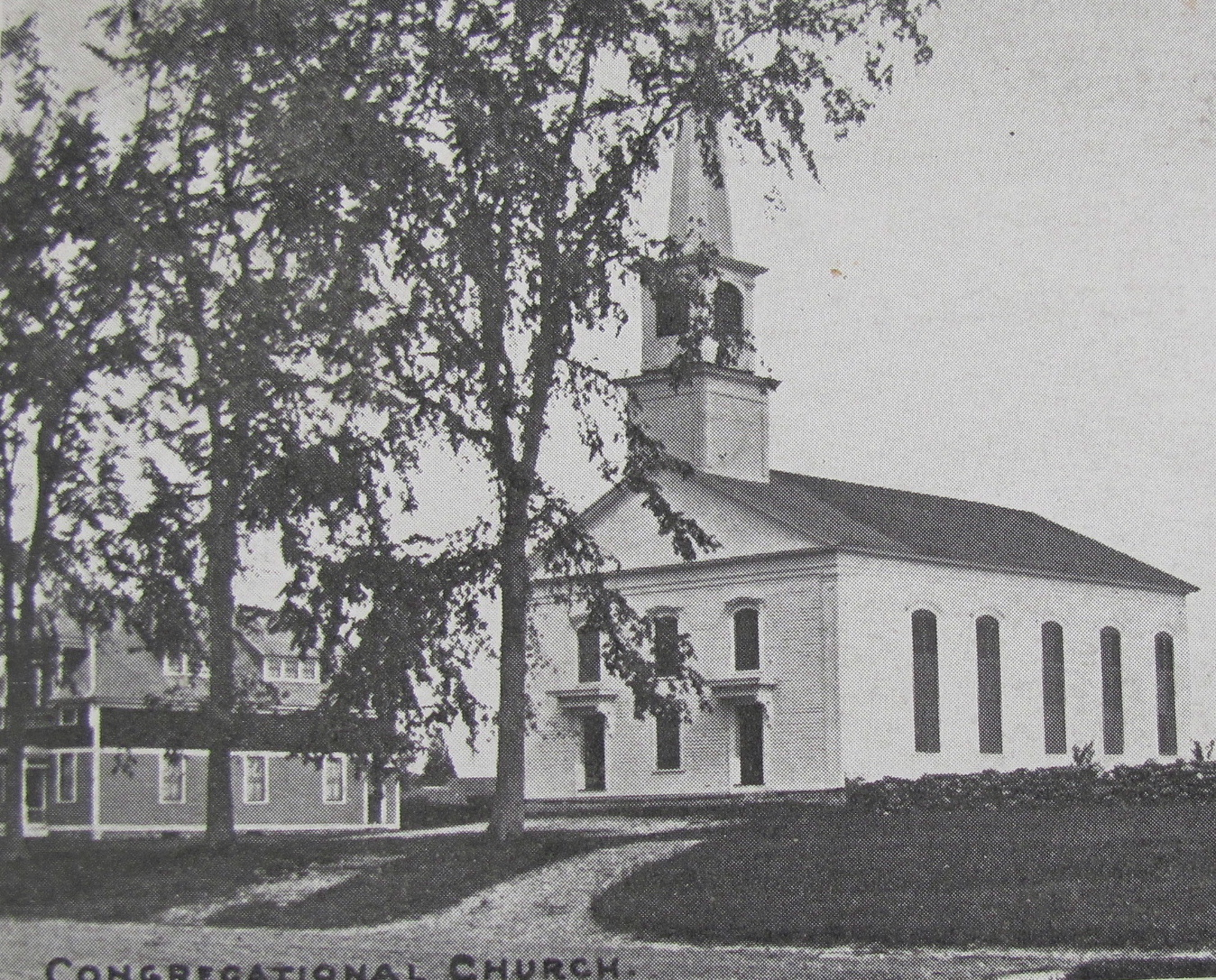 Congregational Church and Yeomans Hall  ca 1905